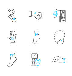 human electronic tagging outline icon collection vector image