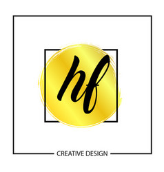 initial letter hf logo template design vector image