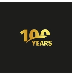 Isolated abstract golden 100th anniversary logo on vector