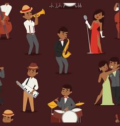 jazz music seamless pattern group creative vector image