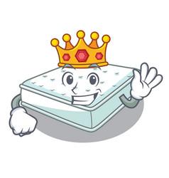 King mattress in cartoon on the shape vector