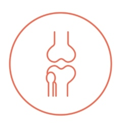 Knee joint line icon vector