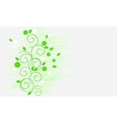 Light green curls vector image