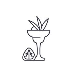 liquor line icon concept liquor linear vector image