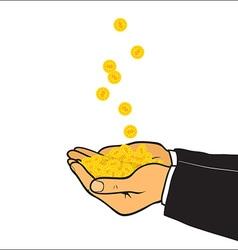 Making money vector image