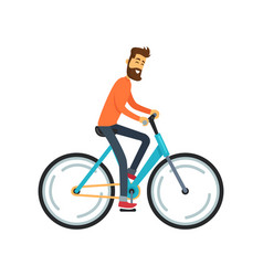 man riding bicycle icon vector image