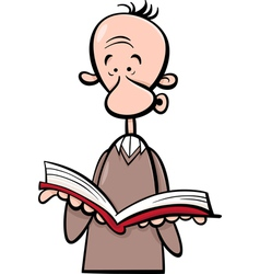 Man with book cartoon vector