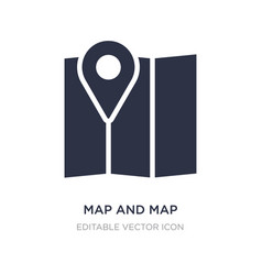 Map and pointer icon on white background vector