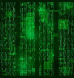 Matrix coded bitstreams green background vector