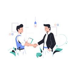 Men shaking hands vector