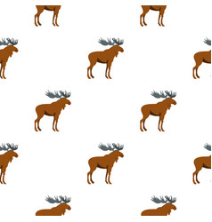 Moose pattern flat vector
