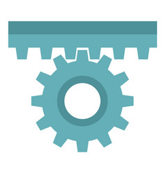 One gear icon isolated vector