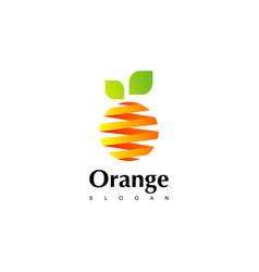 Orange logo design inspiration vector