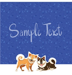 Paper design with two dogs vector
