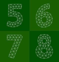 Polygonal number vector