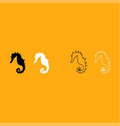 seahorse it is white icon vector image