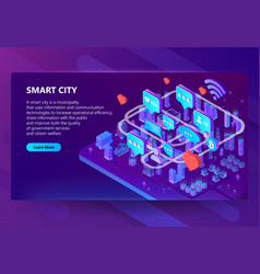 smart city communication vector image