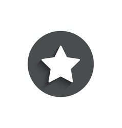 star simple icon best rank sign vector image