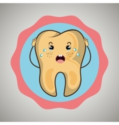 Symbol diseased tooth isolated icon design vector