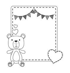 Teddy bear cartoon design vector