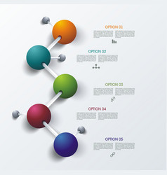 timeline infographic design for of new vector image