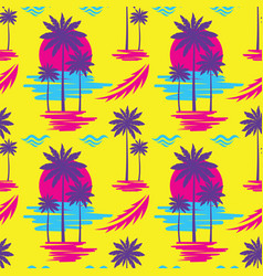 Tropical summer vacation - decorative banner vector