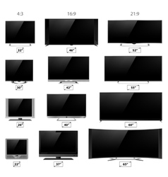 TV screens vector image