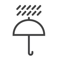 umbrella symbol line icon logistic vector image