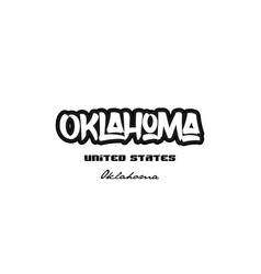 United states oklahoma city graffitti font vector