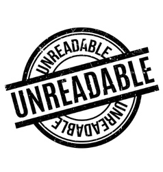 Unreadable rubber stamp vector image