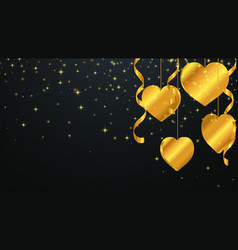 valentines day greeting background vector image