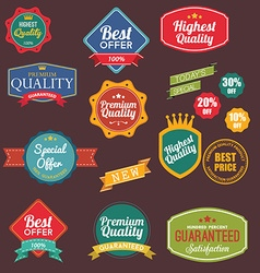 Vintage retro flat badges labels vector