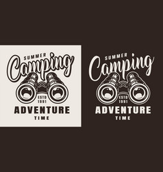 Vintage summer adventure badge vector