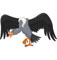 vulture bird cartoon vector image