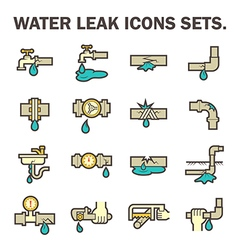 Water leak icon vector