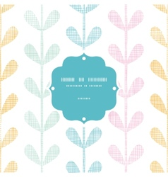 Abstract textile colorful vines leaves frame vector image vector image