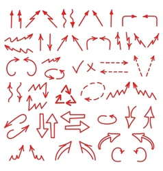 Hand drawn arrows icons set isolated on white vector image