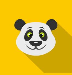 Head of panda bear icon flat style vector