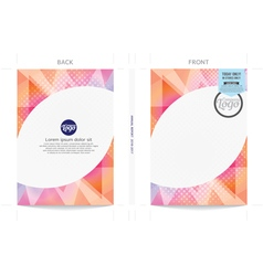 Modern Cover Template vector image