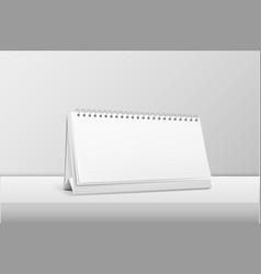 realistic horizontal blank spiral calendar vector image vector image