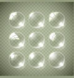 realistic soap bubble colors vector image vector image
