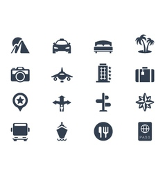 trave icons vector image vector image