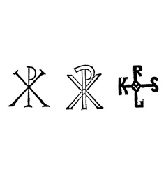 Monogram of Christ vector image