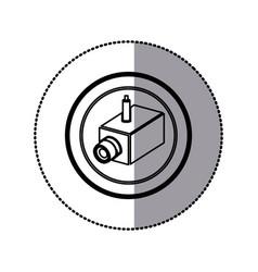 sticker of monochrome contour of interior video vector image vector image