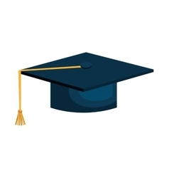 Student graudation hat vector image