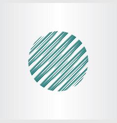 abstract circle globe logo element vector image