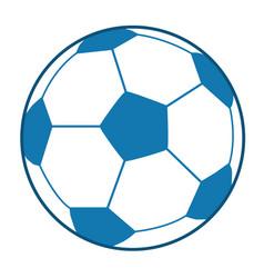 blue soccer ball vector image vector image