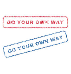 go your own way textile stamps vector image