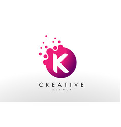 letter k logo k letter design vector image vector image