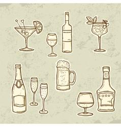 Alkohol Drinks Set vector image vector image